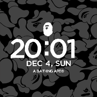A BATHING APE WatchFace