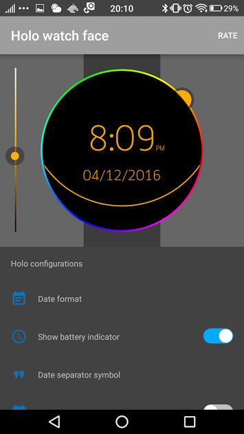 Holo Watch face