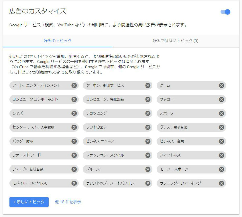 Google ads settings preferences 広告 設定